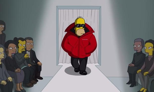 D'oh! couture: Balenciaga puts The Simpsons on Paris catwalk