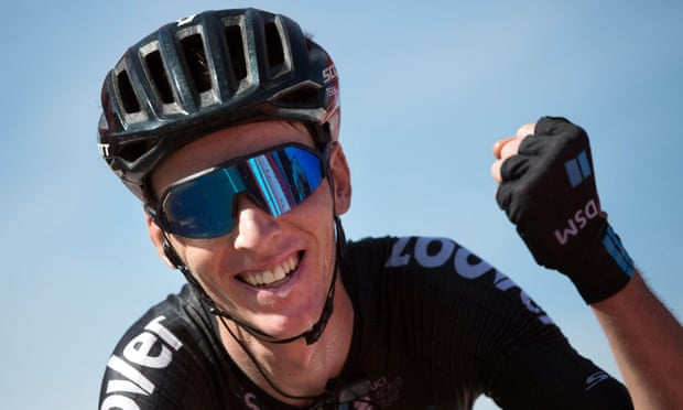 Romain Bardet of Team DSM climbs to stage 14 victory at Vuelta a España